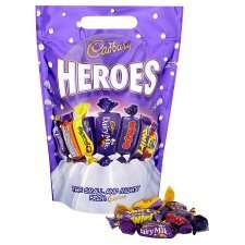 Sweet Pouches, Roses 500g, Celebrations 490g, Quality Street 550g, Heroes 500g, Thorntons Moments 448g, Dairy Milk Chunks 470g. Any 2 for £5.00 @ Tesco