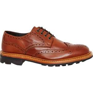 JOHN WHITE Tan Leather Derby Brogue Shoes Sizes 8/9/10: £69.99 TK Maxx