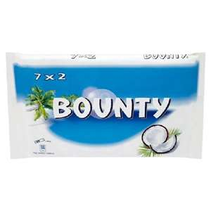 Bounty (Twin) x7, Ripple x 7, Twix ( Twin) x 7, Mars , Snickers x 9 , Milky Way x12, £1.50 @ Sainsburys