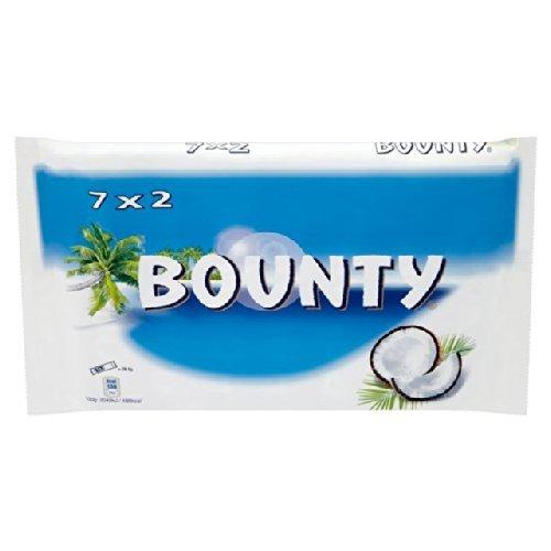 Bounty (Twin) x7, Ripple x 7, Twix ( Twin) x 7, Mars , Snickers x 9 , Milky Way x12, £1.50 @ Sainsburys