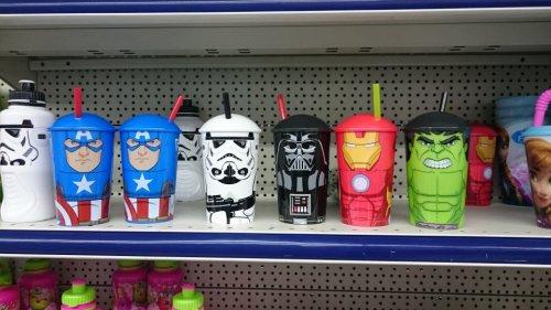 Marvel / Star Wars Children's Drinking Cups £1.00 @ Poundworld