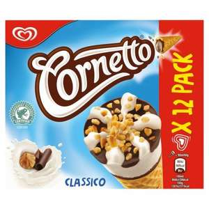 12 Pack of Cornetto Classico £2.49 @ FarmFoods