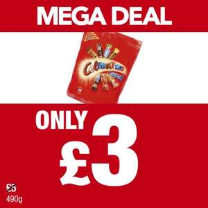 490g Celebration pouch £3 at Premier shops.