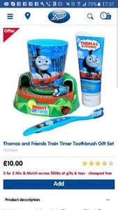 Thomas and friends timer toothbrush gift set. £10 @ Boots - Free c&c