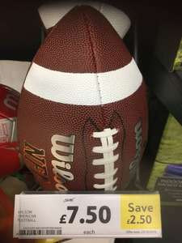 NFL Wilson american football - 25% off £7.50 @ Tesco