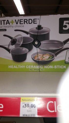 5 non stick pots/pans £30 instore @ Tesco (Walsall)