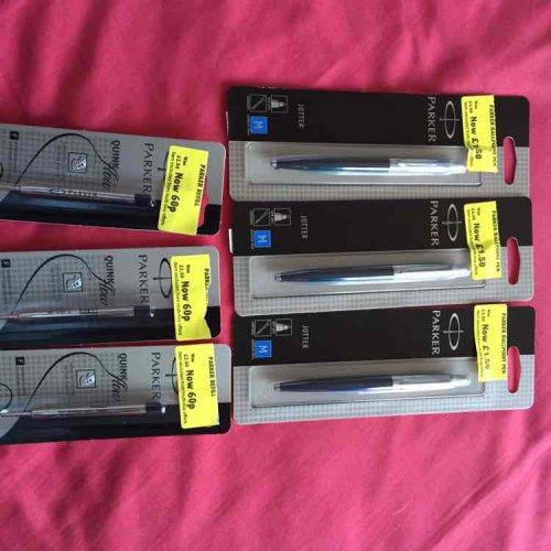 Parker jotter pens & refills instore at Morrisons for £1.50