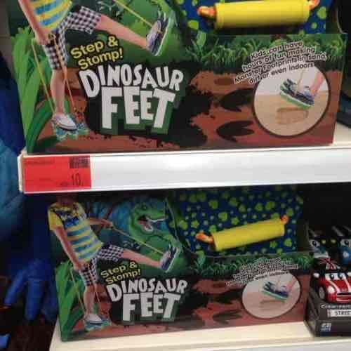 Dinosaur feet 10p B&M