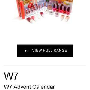 W7 advent calendar £12.99 @ The Perfume Shop