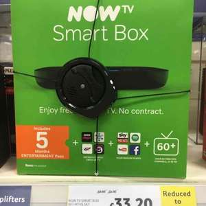Now TV Smart Box with 5 Months Entertainment Free - Tesco - £33.20