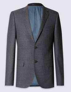 Big & Tall Pure Wool Tailored Fit 2 Button Jacket £18.99 at M&S
