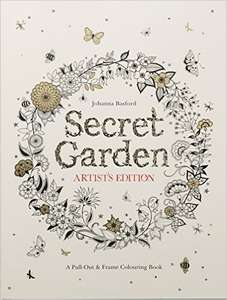 Johanna Basford Secret Garden Artist's Edition Colouring Book £1.50   (Prime) / £4.49 (non Prime) @ Amazon