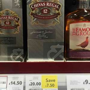 Chivas 12y Whisky  0.7l £20 at Tesco