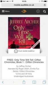 Free Jeffrey Archer audio book @ Audible