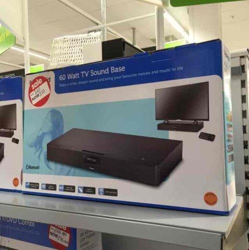 Polaroid 60w TV sound base £60 down to £20 flash sale Asda in store