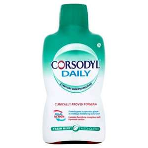 Corsodyl Daily Alcohol Free Mouthwash/ Daily Toothpase - £3 @ Tesco