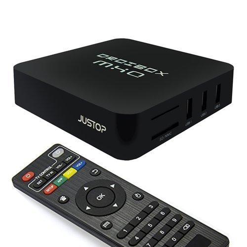 JUSTOP ® MXQ Quad Core Android TV Box 4.4 Kitkat KODI TV Box MXQ Full HD KODI XBMC Internet Streamer Built-In 3D Engine 802.11n Wi-Fi (MX-Q) £29.50  Sold by DigiDirect and Fulfilled by Amazon