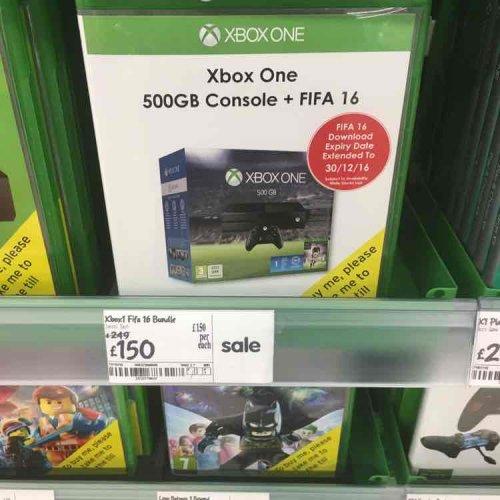Xbox one 500gb  + FIFA 16 £150 in Asda instore - Inverness