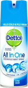 Dettol All in One Disinfect Spray Crisp Linen (400ml) was £3.50 now £1.75 @ Waitrose