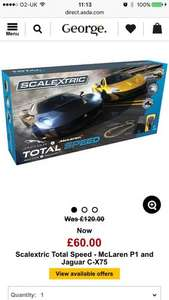 Scalextric Total Speed - McLaren P1 and Jaguar C-X75 £60 @ Asda