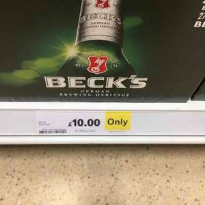 Becks bottles x20 £10 @ Tesco in store