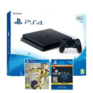 PS4 Slim 500gb + FIFA 17 + FIFA 17 750 points pack + DS4 V2 - £249.85 - ShopTo