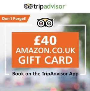 Get a £40 Amazon Gift Card when you spend £100 on TripAdvisor and leave a review!