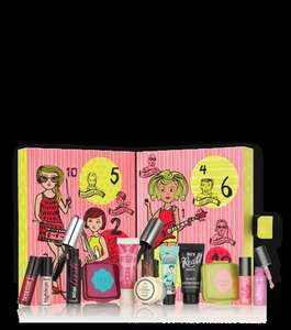 Benefit Cosmetics girl o'clock rock 2016 Advent Calendar (worth £68+) PLUS FREE Beach Bag + 2 FREE Samples + Free Delivery at Benefit (more Christmas Kits ie blushin' babe blockbuster blush kit (worth over £97) £29.50)