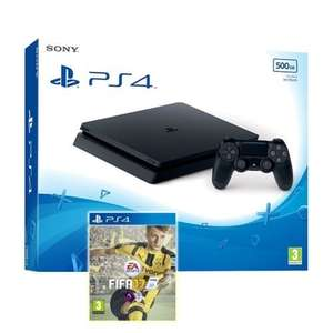 PS4 Slim 500GB Black Console + FIFA 17 @ ShopTo ebay - £249.99