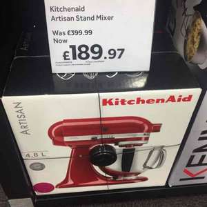 KitchenAid Artisan stand mixer - Raspberry Red - £189.97 instore @ Currys
