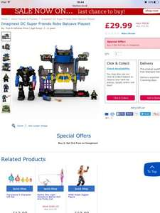 Imaginext robo cave half price and lots more Imaginext and also 3 for 2 £29.99 @ Toys R Us
