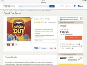 Speak Out game in stock Tesco direct £18.95