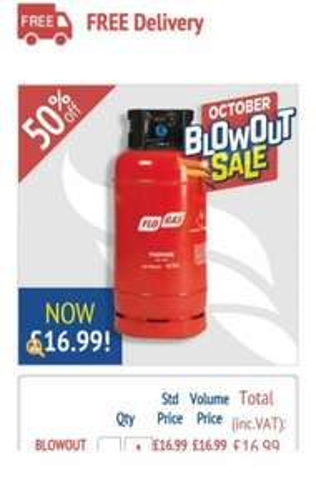 BLOWOUT SALE | 18Kg FLT Propane Cylinder - £16.99 Gasdeal