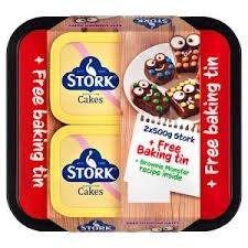 Stork Original Spread 2 x 500g + Free Baking Tin @ Iceland £2