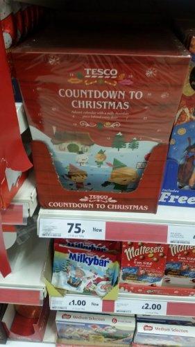 Tesco Countdown to Christmas Advent Calendar for 75p