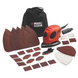 Black and Decker Mouse Detail Sander and Accessories £17.43 @ Homebase