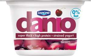 Danone Danio 0% Fat Strained Yogurt - Blueberry / Cherry / Passion Fruit / Strawberry (150g) was 85p now 50p @ Tesco