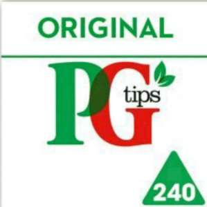 PG Tips 240 pyramid bags £3 Asda
