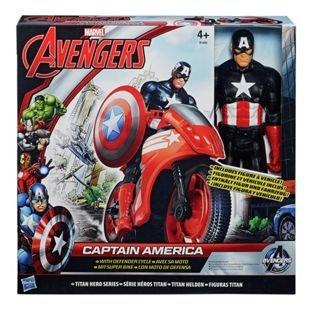 Avengers Titan Hero Series Captain America Action Figure and Motorcycle £12.49 @ Argos