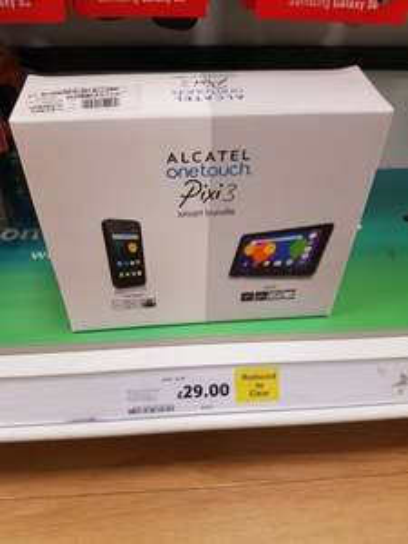 alcatel one touch pixie 3 smart bundle £29 @ tescos instore