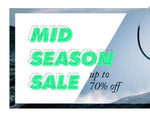 Mid season sale, upto 70% off brands - North Face, Converse, Quicksilver, Billabong & more @ Surfdome
