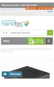 HTC BoomBass Subwoofer NFC Bluetooth Portable Speaker only £12 at Handtech