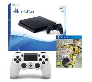 PlayStation 4 Slim, FIFA 17 & DualShock 4 Wireless Gamepad Bundle £259.99 @ Currys