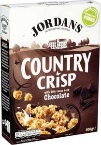 Jordans Country Crisp with 70% Cocoa Dark Chocolate / Chunky Nut / Luxery Raisins / Raspberry / Strawberry (500g) was £2.69 now £1.34 @ Tesco