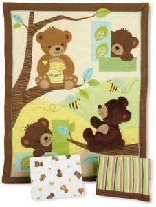 Lambs & Ivy honey bear cot bedding 3 piece set Amazon £19.11 prime / £23.86 non prime @ Amazon