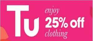 25% Off TU clothing at Sainsburys including Halloween costumes 25 - 31st October - PLUS stacks with money-off vouchers!
