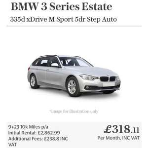 BMW 335d Touring xdrive M Sport 5dr Step Auto Lease (£10871.29) Telegraph Leasing