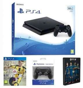 Sony PlayStation 4 500GB Slim PS4 (D Chassis) + FIFA 17 + DualShock 4 + Steelbook £259.99 (Exclusive to Amazon.co.uk)