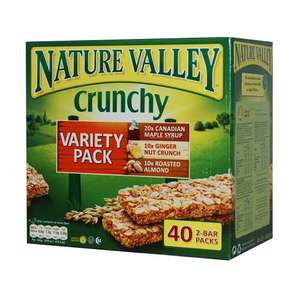 Nature Valley x 40 bars Variety or Oat and Honey £5.98 @ costco