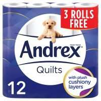 Andrex Comfort Quilted Toilet Rolls 12 for the price of 9 was £4.80 now 2 packs of 12 for £7.50 @ Waitrose